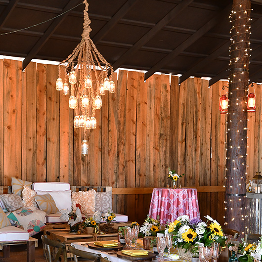 country style wedding reception
