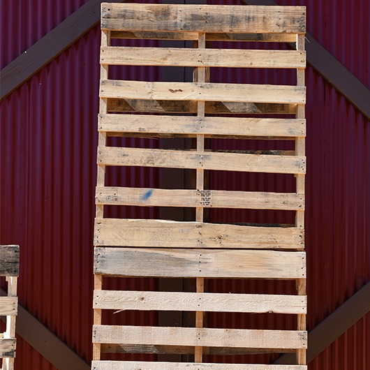 large wooden pallet backdrop