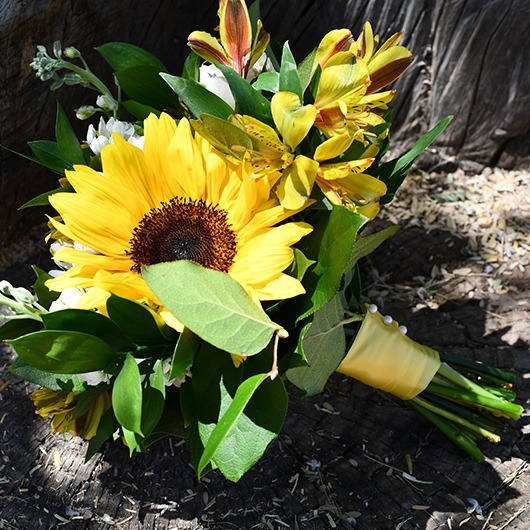 maid of honor sunflower yellow country